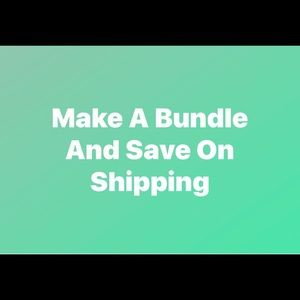 Bundle your items and pay one shipping fee
